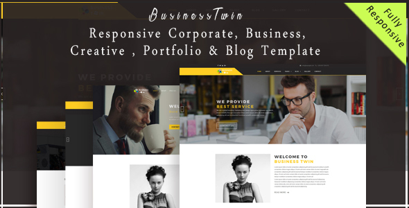 BusinessTwin – Responsive Corporate, Business, Creative , Portfolio & Blog Template