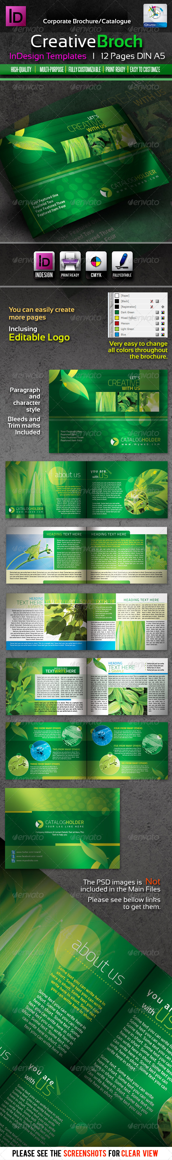 Creative InDesign Brochure/Catalogue 12pages - Corporate Brochures
