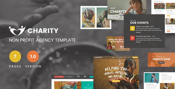 Charity Foundation – Charity Hub PSD Template