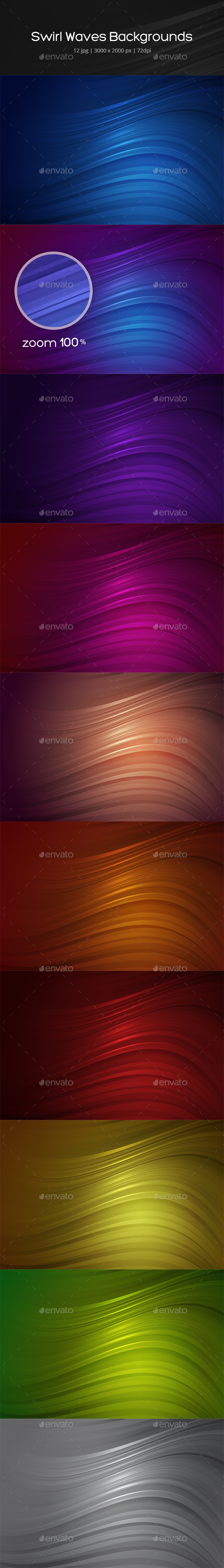 Swirl Waves Backgrounds - Abstract Backgrounds