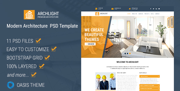 ArchLight – Modern PSD Template