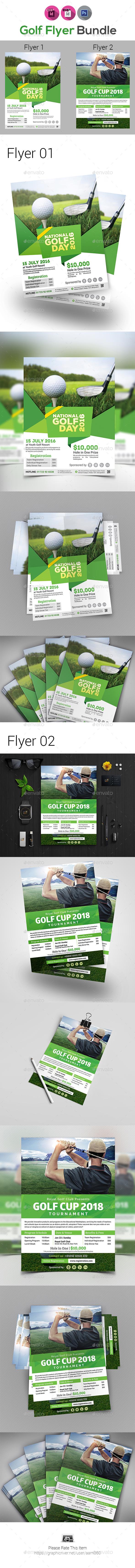 Golf Flyers Bundle V3 - Sports Events