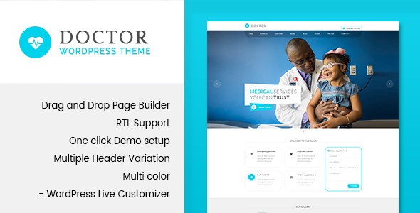 Doctor - Medical & Health WordPress Theme - Health & Beauty Retail
