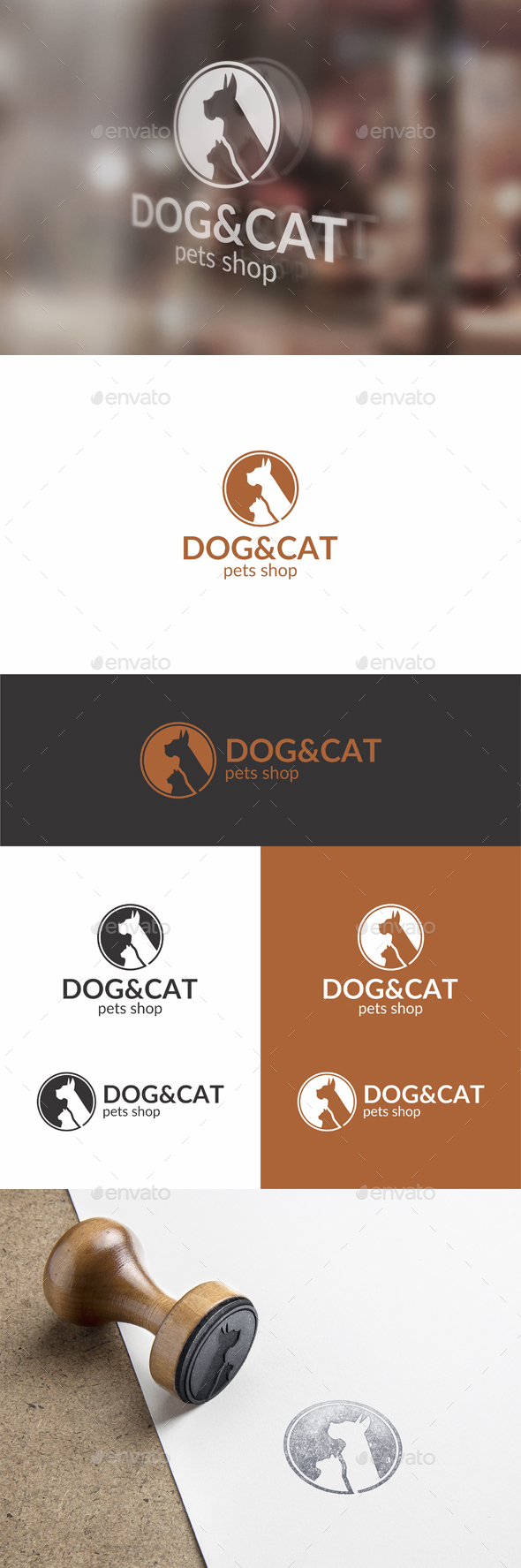 Pets Logo - Dog and Cat Logo Template - Animals Logo Templates
