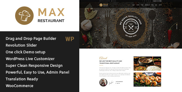 Restaurant - Responsive WordPress Theme