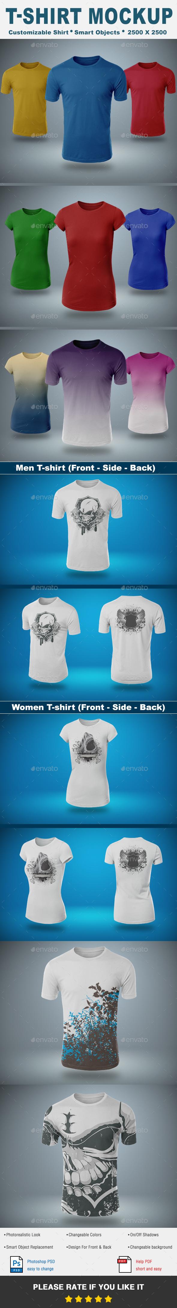 T-Shirt Mock-Up Vol.1