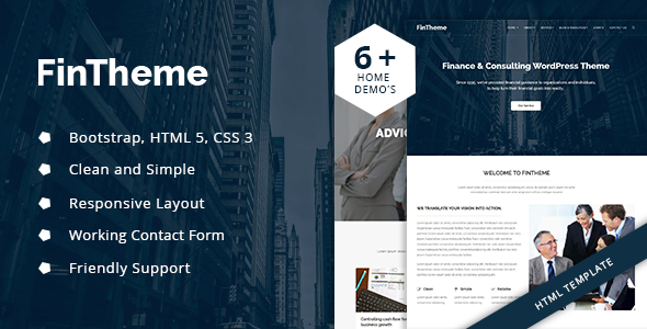 Fintheme – Finance HTML Template – For Finance & Consultants