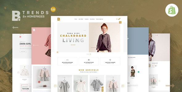 Shopify Theme – Btrend – Drag And Drop Responsive Bootstrap
