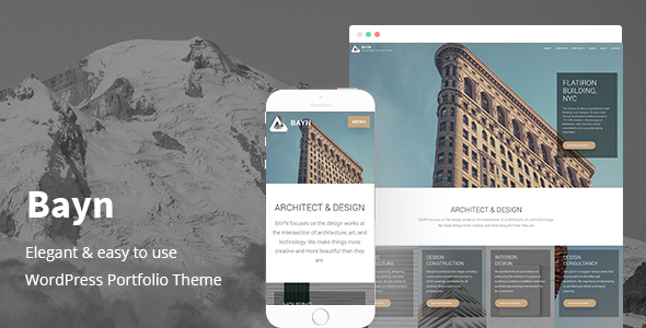 Bayn - WordPress Business Portfolio Theme - Business Corporate