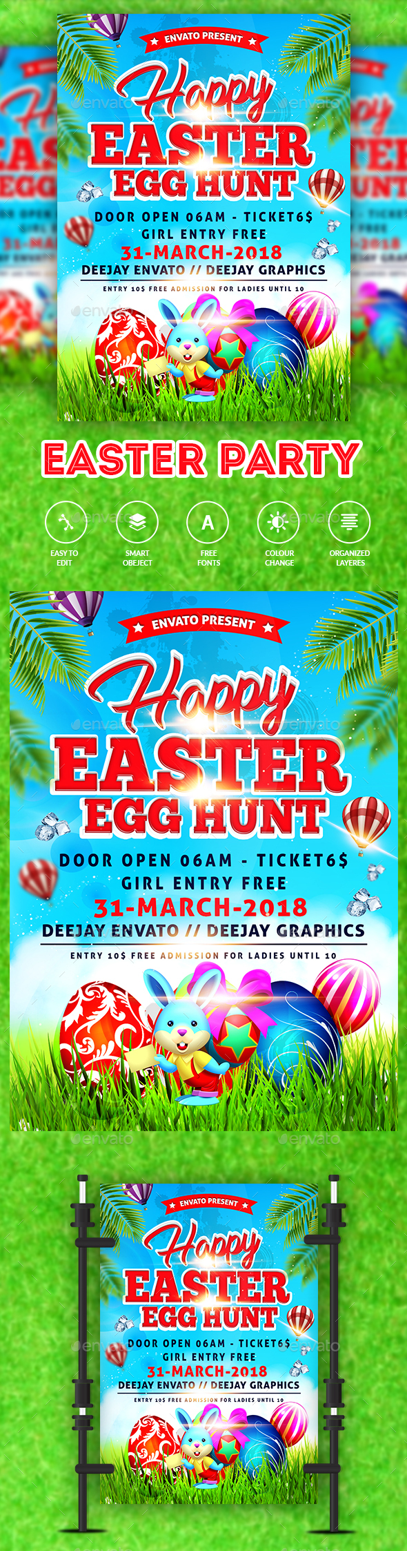 Easter Party Flyer  Tempate - Clubs & Parties Events