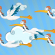 Stork Cartoon - VideoHive Item for Sale