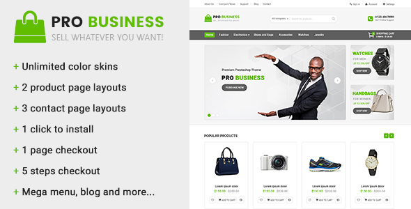 Pro Business - Multipurpose Prestashop Theme - PrestaShop eCommerce