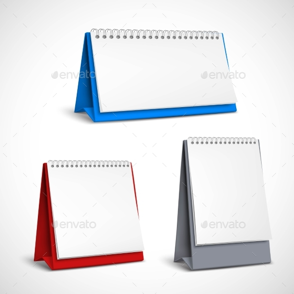 Blank Table Spiral Calendars Set - Man-made Objects Objects