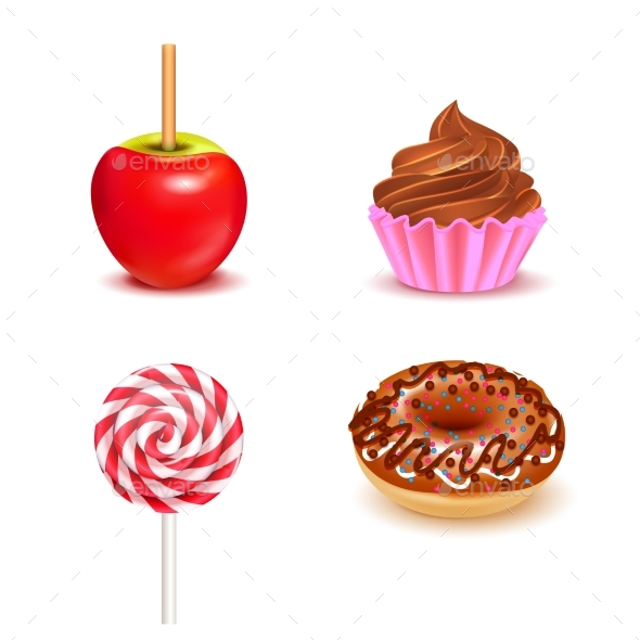 Fair Sweets Realistic Set - Food Objects