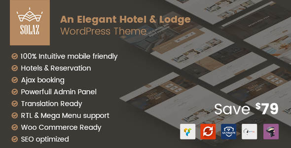 Solaz - An Elegant Hotel & Lodge WordPress Theme