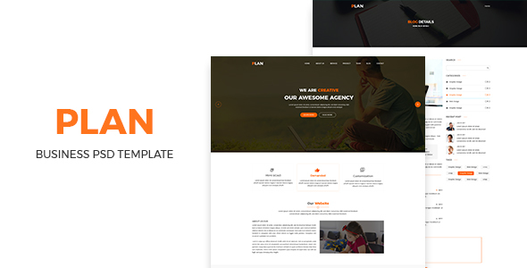 Plan- Bussiness PSD Template