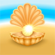 Seashell with Pearl on the Beach - GraphicRiver Item for Sale