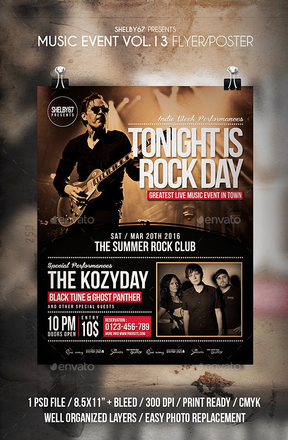 Music Event Flyer / Poster Vol 13 - Events Flyers