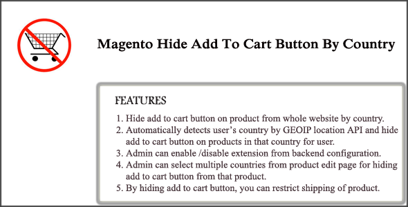 Magento Hide Add To Cart Button By Country - CodeCanyon Item for Sale