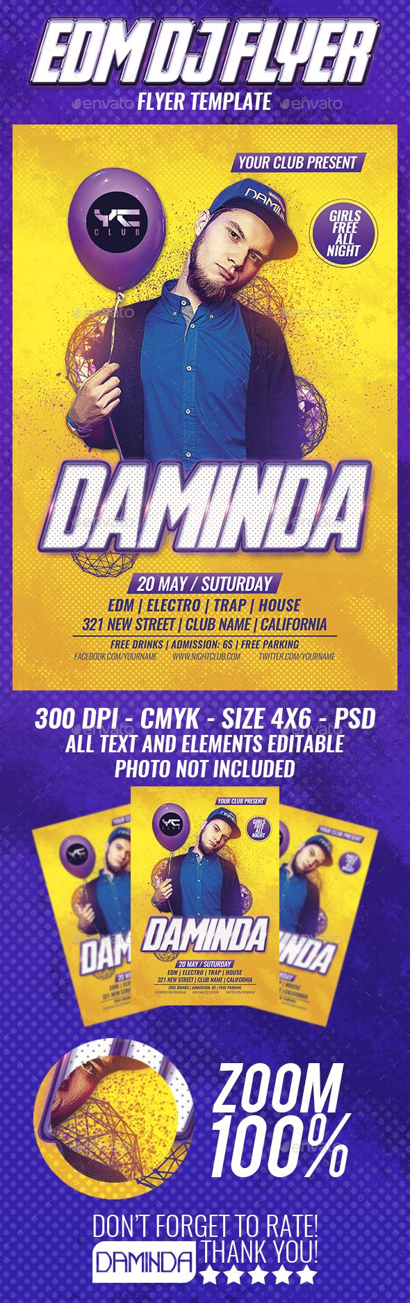 EDM Dj Flyer Template - Clubs & Parties Events