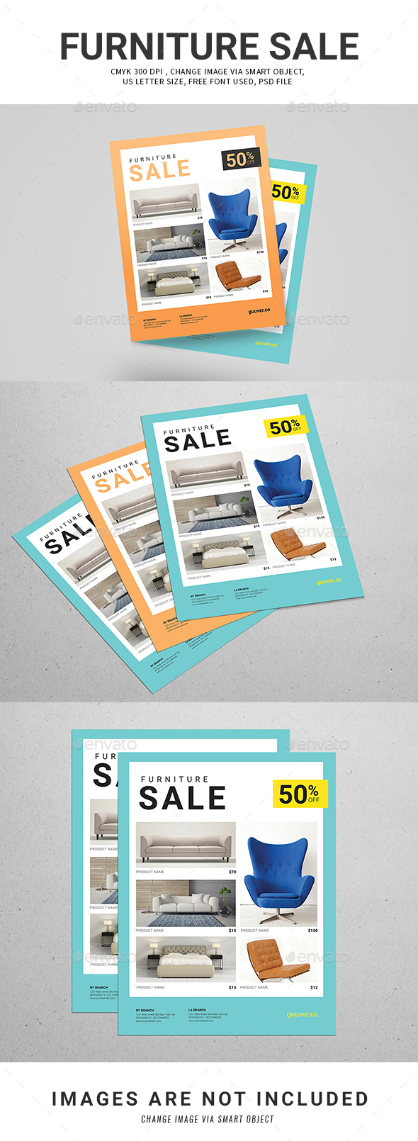 Furniture sale flyer by guuver graphicriver for P s furniture flyer