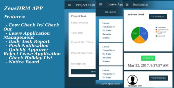 ZeusHRM App - Ionic 2 + Angular 2 - CodeCanyon Item for Sale
