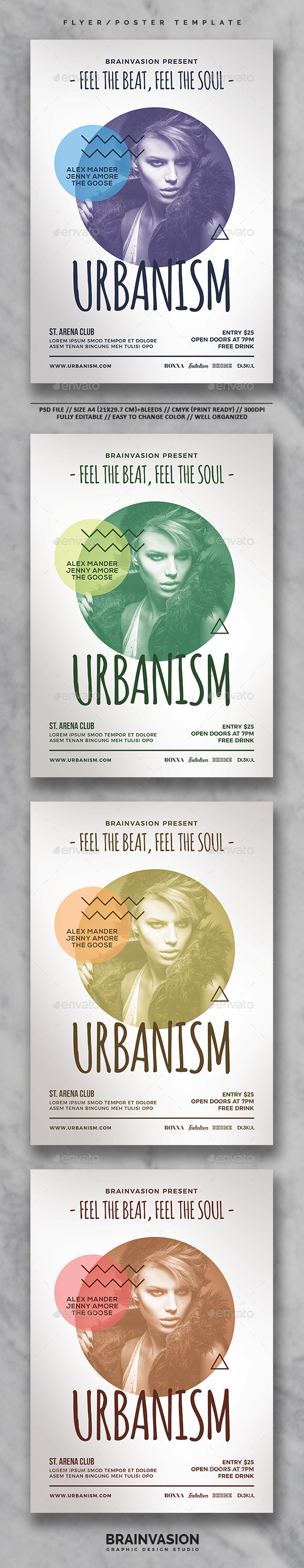 Hipster Flyer/Poster Template Vol.05 - Clubs & Parties Events