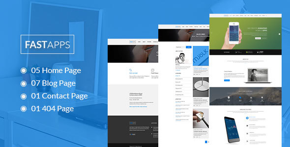 FASTAPPS Creative Mobile Apps PSD Template