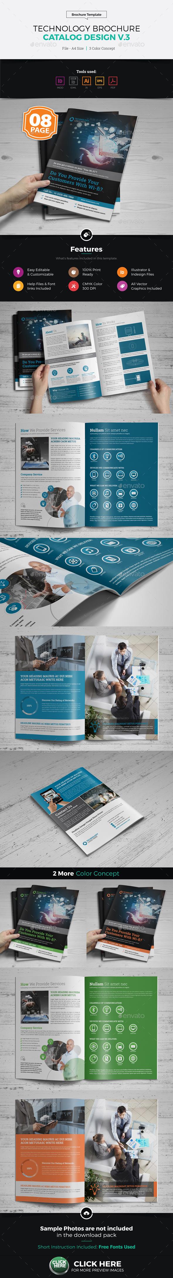 Technology Brochure Catalog Template v3 - Corporate Brochures