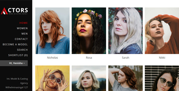 Actors - WordPress CMS Theme for Model Agencies - Fashion Retail