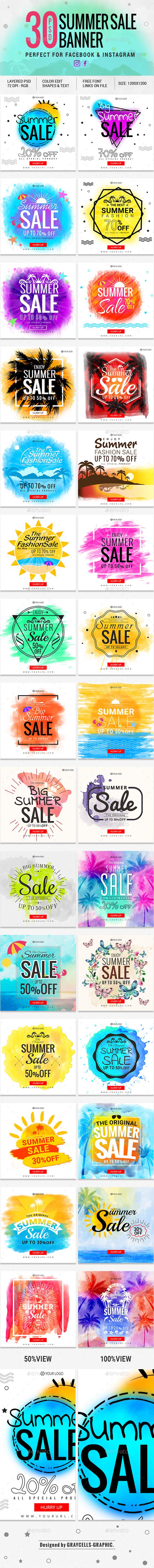 30 Facebook Creative Banners - Social Media Web Elements