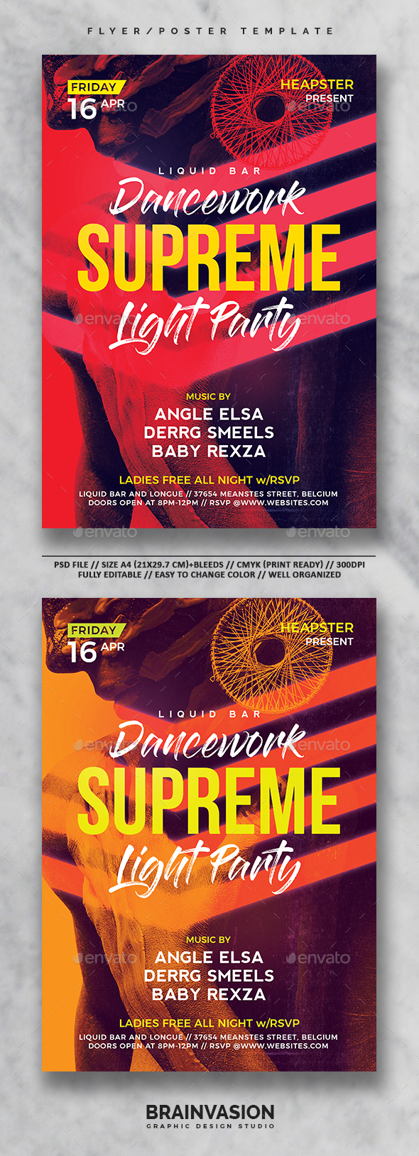 Modern Flyer/Poster Template Vol.01 - Clubs & Parties Events
