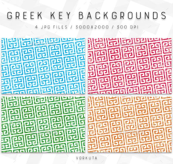 Greek Key | Backgrounds - Patterns Backgrounds