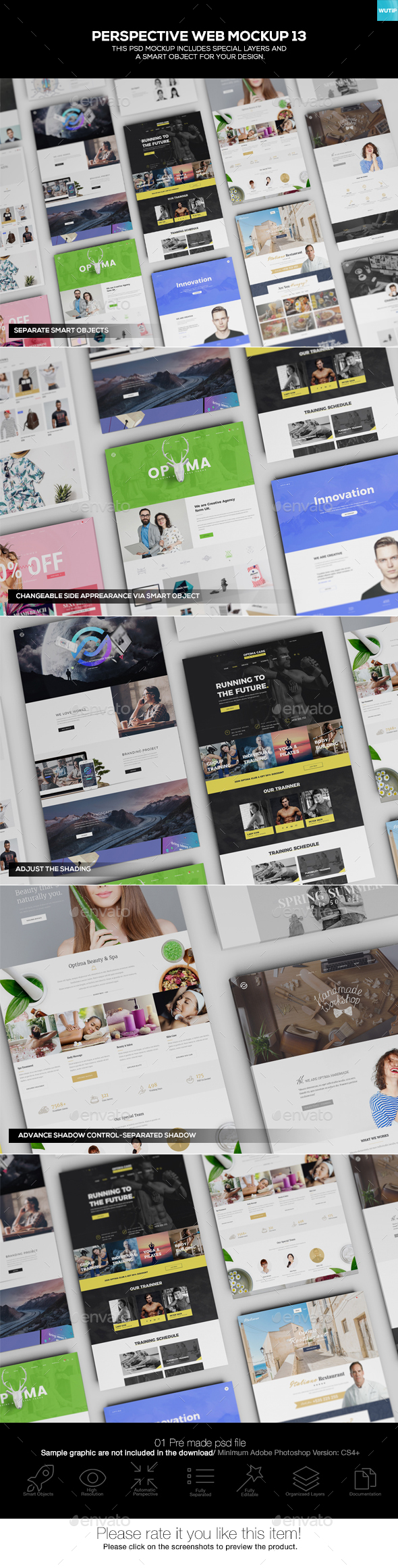 Perspective Web Mockup 13 - Website Displays