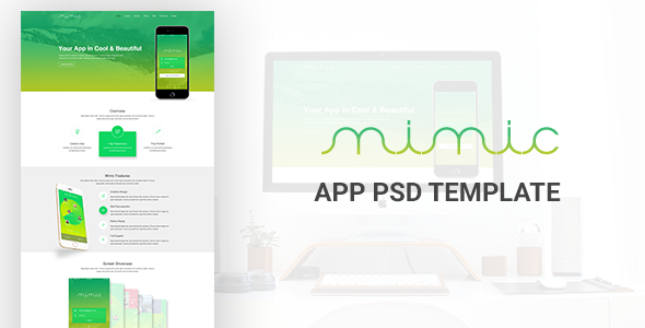 Mimic App PSD Template - Creative PSD Templates
