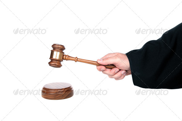 Judge and gavel - Stock Photo - Images