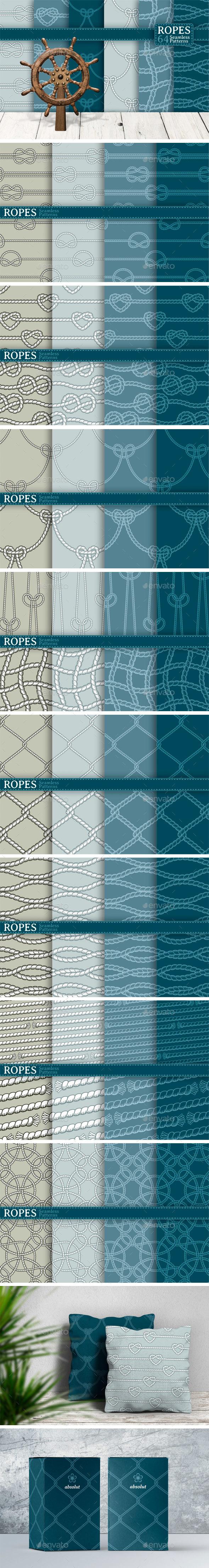 Ropes 64 Seamless Patterns - Patterns Decorative