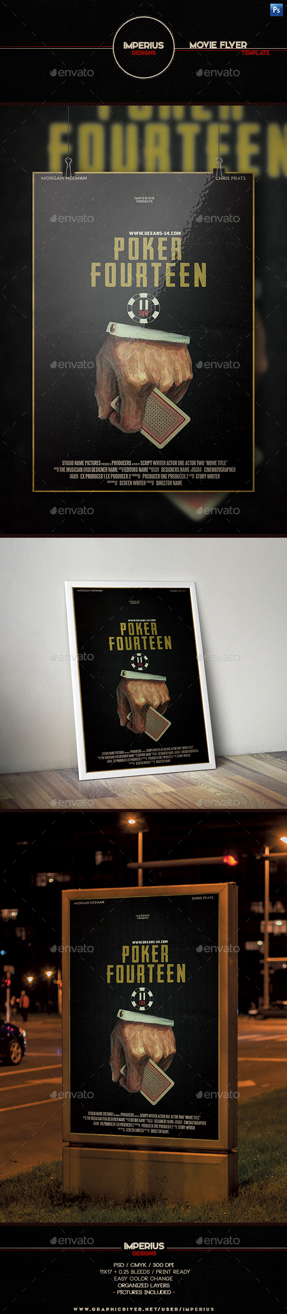 Poker Fourteen Movie Poster - Events Flyers