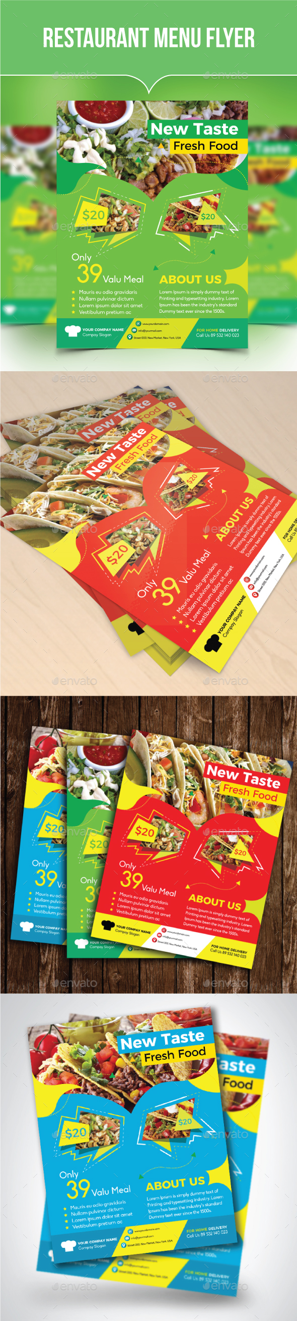 Restaurant Menu Flyer - Restaurant Flyers