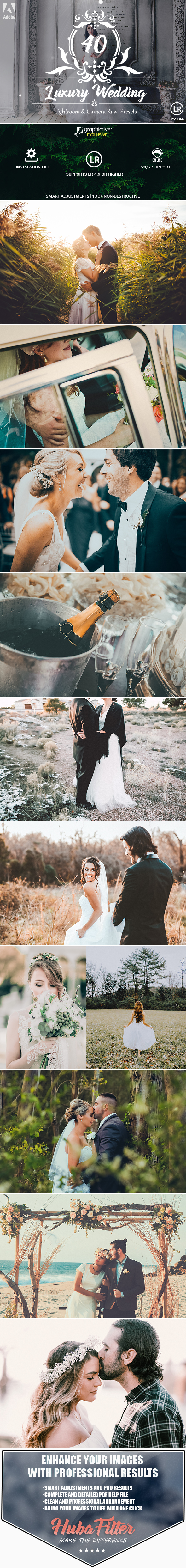 40 Luxury Wedding Lightroom and Camera RAW Presets - Wedding Lightroom Presets