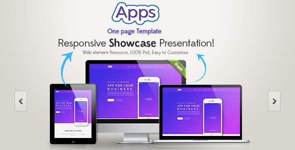 Apps One Page HTML Template - Creative Site Templates
