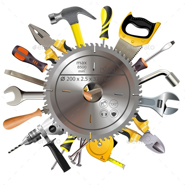 Saw Blade with Tools - Industries Business