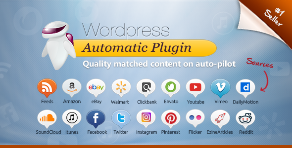Wordpress Automatic Plugin - CodeCanyon Item for Sale