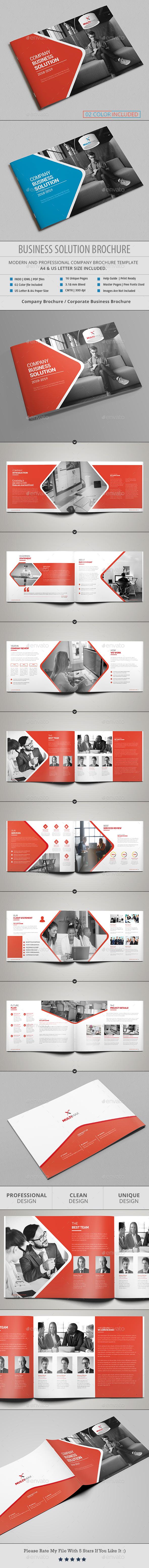 Landscape Brochure Template - Corporate Brochures
