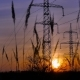 Sunset and Power Lines - VideoHive Item for Sale