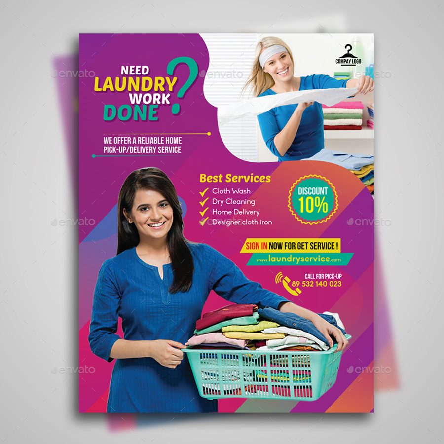 Laundry service flyer by designstation graphicriver laundry service flyer commerce flyers preview image set01preview1g pronofoot35fo Image collections