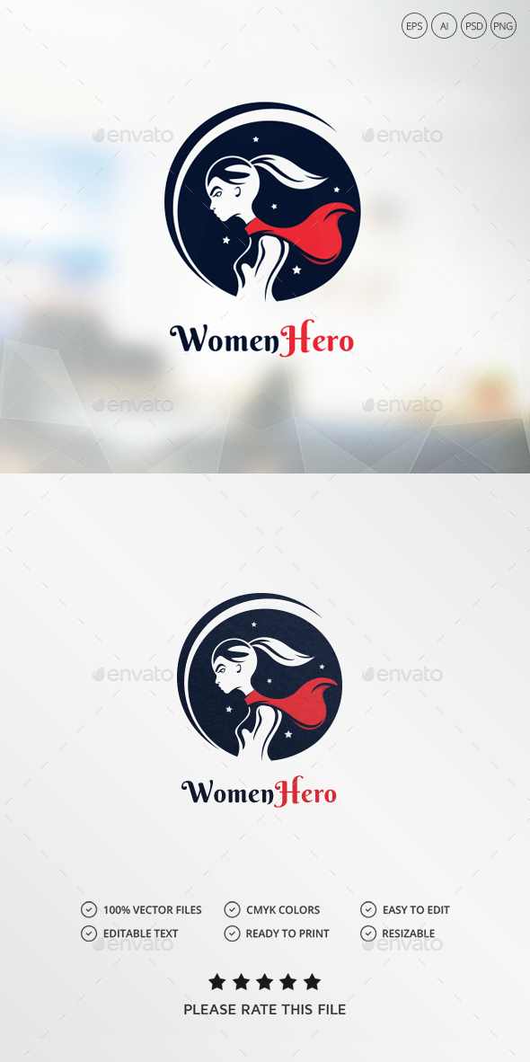 Women Hero Logo - Humans Logo Templates
