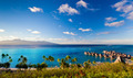High angle shot over water bungalows at Moorea - PhotoDune Item for Sale
