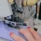 Shot of Overlock Sewing Machine