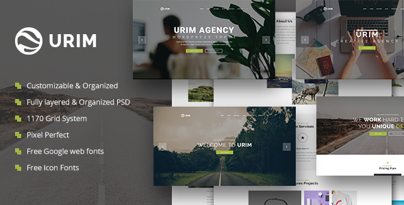 Urim | Creative Multipurpose PSD Template - Creative PSD Templates